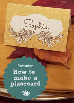 """Our Place Cards tutorial makes your dinner party extra spiffy and fully qualifies you to use the word """"tablescape"""" when you brag about it later."""
