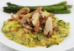 Nice! Serve without bacon over zucchini noodles or spaghetti squash!! SCD 'No-fredo' Sauce (*Use fresh pressed garlic...)