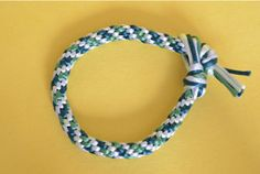 Four-Color Braided Kumihimo Bracelet | AllFreeJewelryMaking.com