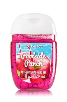 Poolside Punch - PocketBac Sanitizing Hand Gel - Bath & Body Works - Now with more happy! Our NEW PocketBac is perfectly shaped for pockets & purses, making it easy to kill 99.9% of germs when you're on-the-go! New, skin-softening formula conditions with Aloe & Vitamin E to leave your hands feeling soft and clean.