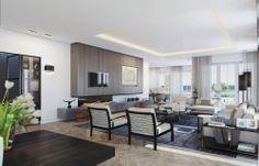 Sofisticado Penthouse Diseño en 3D Render