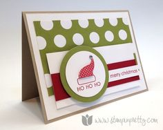 Stampin up mary fish stamp it pretty embellished events circle framelits dies holidays christmas card idea