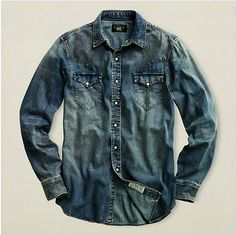 Double RL RRL Denim Shirt
