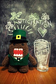 Happy St. Pat's MONTH! That beer hungry Domo dude is totally me right now...