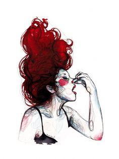 Illustration by: Paula Bonet Weird Drawings, Art Drawings, Paula Bonet, Arte Sketchbook, Sketchbook Ideas, Illustration Girl, Figure Drawing, Art Inspo, Concept Art
