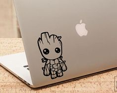 Baby Groot Sticker, Groot Laptop Decal, Im Groot, Groot Iphone, Guardians Of The Galaxy, Marvel Decal, Macbook Sticker, Laptop Decal
