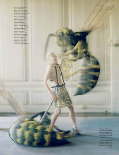 Magazine: Love #7 Spring/Summer 2012  Model: Kristen McMenamy  Photographer: Tim Walker  Stylist: Katie Grand