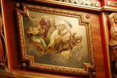 Galera Reial (rèplica). MMB. Soldat damunt el carro agafant l'Ocasió pels cabells. Aleta estribord. Foto:JL Biel