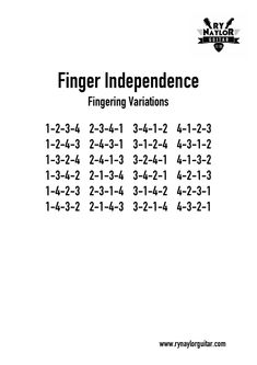 A useful chart with all the possible combinations of the fretting hand fingers. Awesome for your warmups and finger independence exercises. Get a metronome and work a pattern or a combination across the strings. Music Theory Guitar, Learn Guitar Chords, Easy Guitar Songs, Guitar Chords For Songs, Music Chords, Lyrics And Chords, Ukulele Chords, Music Guitar, Ukulele Art