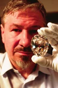 The largest colorless cut diamond in the world - Cullinan I - weighing in at 530.2 carats from south Africa.