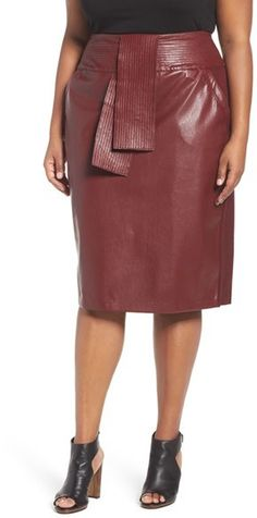 Melissa McCarthy Seven7 Tie Waist Skirt (Plus Size)