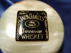 Jack Daniels enamel pin on Onyx Paperweight by Knobstoppersandmore, $30.00