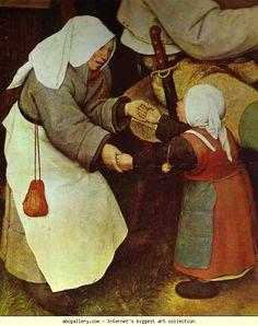 Pieter Bruegel the Elder. The Peasant Dance. Detail. 1567