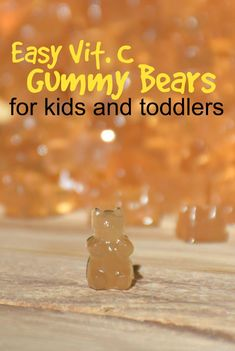 Looking for a preservative dye and corn sugar free vitamin c for toddlers? Try this vitamin C gummy recipe for toddlers quick and easy to make and kids love them! Vitamin C Gummies, Gummy Recipe, Kids Health, Children Health, Gummy Bears, Healthy Living Tips, Toddler Meals, Diet And Nutrition, Healthy Drinks