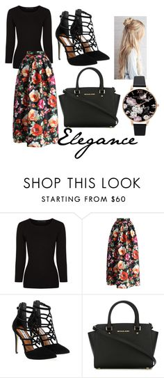 """""""elegance"""" by rhianna-alexandre ❤ liked on Polyvore featuring Alexander Wang, Chicwish, Steve Madden, MICHAEL Michael Kors and Olivia Burton"""