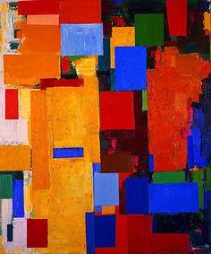 Hans Hofmann, 1880, Baviera–1966 N.Y, fue un pintor alemán. En 1915 abrió una escuela de arte en Múnich y hasta 1936 enseño sobre todo en los Estados Unidos, después abrió su propia escuela de arte en NY. Influyó en el desarrollo del Expresionismo abstracto. Introdujo la tercera dimensión en sus cuadros y los transformó en campos de fuerzas dinámicas. Técnica particular: el Push and Pull, los colores asociados son vistos como se rechazan o se atraen.