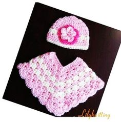 PATTERN Crocheted baby toddler Poncho (Poncho 1) -- 6 - 9 months and 9 - 12 months