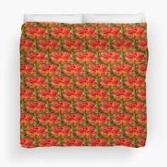 Roses Galore - twin to king duvet - by Judi FitzPatrick