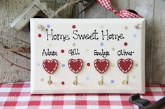 Personalised Home Sweet Home Key Holder from www.daisychainhomeandgifts.co.uk