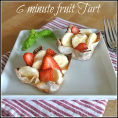 Gourmet Cooking For Two: 6 minute Fruit Tart