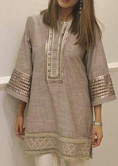 Fancy Dress Design, Stylish Dress Designs, Stylish Dresses, Pakistani Dresses Casual, Pakistani Dress Design, Abaya Fashion, Fashion Outfits, Kurta Neck Design, Sleeves Designs For Dresses