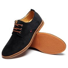 Big Size Men Casual Suede Corduroy Breathable Lace Up Oxford Shoes - NewChic