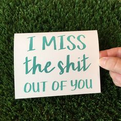 Your place to buy and sell all things handmade I miss you card - Long distance Relationship card - I love you card - Funny relationship card - Funny I miss You Card Missing You Friendship, Long Distance Friendship Quotes, Missing You Quotes Distance, I Miss You Friend, I Miss You Card, Miss You Funny, Funny Me, I Miss You Quotes, Love Quotes Funny