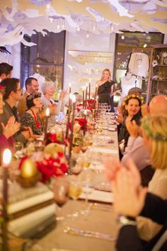 Our guests sparkle at a fairytale themed dinner party hosted at our salon!!!