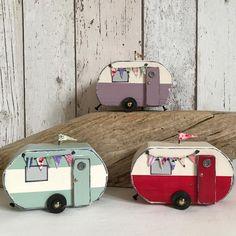 Vintage vans #shabbychic #shabbydaisies #handmade #rustic #rusticart #holidays #caravan #bunting #seaside #sea#summer #summer #vintage