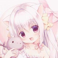 Kawaii Neko Girl, Lolis Neko, Loli Kawaii, Cute Anime Profile Pictures, Cute Cartoon Pictures, Cute Pictures, Gato Anime, Anime Cat, Anime Teen