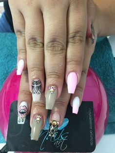 Acrylic Nails, Nails art, Black Nails