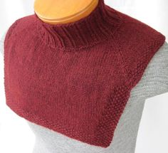 Something quick-to-knit for your man. Using far less yardage than an entire sweater, you can still get the look of a sweater in a luxury fiber by wearing this dickey under an open-collared shirt, V or crew neck shirt. HeartStrings pattern #A127 Buffalo Guys and Gals Dickey