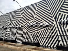 Dazzle paint job on a Miami arts building in the Wynwood Arts District.