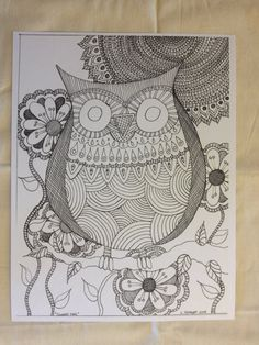 Art Print  COLORING PAGE  Hand Drawn  by SnowflakeEclecticArt, $8.95
