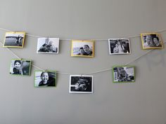 Photo garland. via thesweetestoccasion.com. party styled by theindigobunting.