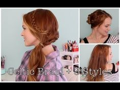 How to Do a Celtic Braid and 3 Ways to Style It!  Wow! It looks intricate, but it's not that hard!