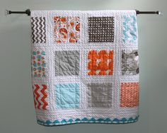 This was a baby gift for a quilting friend. It was inspired by this post by Sandra Saunders. It was probably my seco...