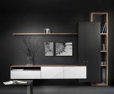 Design kast Interstar - Dutch Design Assen - Eindeloos te combineren - Zwart / wit / hout - touch greep - beatiful furniture