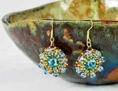 Blue Crystal Earrings - 5 Books To Read About Beading - Svetlana.Gallery Blog
