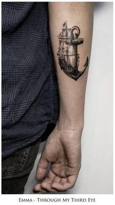 50 seductive anchor tattoo designs, hope and sel .- 50 verführerische Anker Tattoo Designs, die Hoffnung und Selbstkontrolle darste… – Tattoo Muster 50 seductive anchor tattoo designs that represent hope and self-control … - Tattoos Masculinas, Navy Tattoos, Sailor Tattoos, Body Art Tattoos, Cool Tattoos, Tatoos, Navy Anchor Tattoos, Dragon Tattoos, Amazing Tattoos