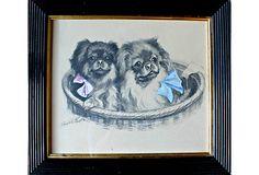 Pekingese Puppies on OneKingsLane.com Pekingese Puppies, Japanese Chin, Dogs, Decor, Decoration, Decorating, Pet Dogs, Doggies, Dekorasyon