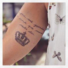 E essa foi a tattoo da Aline @blogpapodecasada !!! Coisa rica feita em homenagem ao filho!! ❤