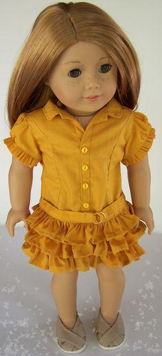 American Girl 18 doll Down Under Dress from by MaddiesGirls, $40.00