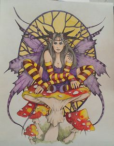 From Linda Ravenscroft Fairy and Fantasy coloured with FC polychromos