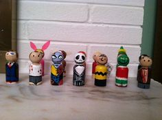 Heroes of Christmas Peg Doll Set by Geektoysandcrafts on Etsy, $40.00