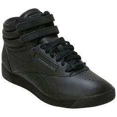 4248f9e8dde Reebok Women s Classics Freestyle Hi Black High-Top Sneaker Black High Top  Shoes
