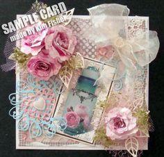 Pretty Perfume Bottles Handmade Card, made by Kim Fisher