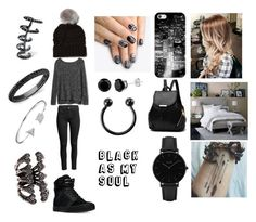 """Black As My Soul"" by marianaduran260 on Polyvore featuring Sweaty Betty, Gap, West Elm, Casetify, Supra, alfa.K, CLUSE, Kasun, Bling Jewelry and Anne Sisteron"