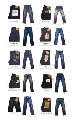 The Best of Japan denim Co. I will eventually buy, Flat Head, Sugar Cane, Samurai, and Pure Blue Japan. Denim Boots, Denim Outfit, All Jeans, Jeans Pants, Momotaro Jeans, Denham Jeans, Estilo Denim, Japanese Denim, Denim Branding