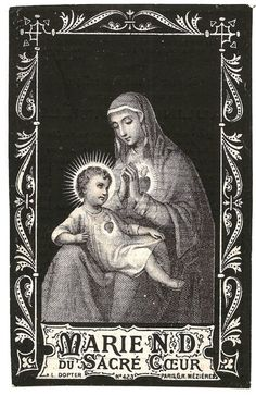 Virgin Mary & Baby Jesus Our lady of the Sacred Heart Antique German Catholic Holy Prayer Card, Catholic Gift, Engraving, Immaculate Heart Catholic Medals, Catholic Gifts, Catholic Art, Religious Art, Jesus Our Savior, Heart Of Jesus, Jesus Christ, God Jesus, Salvador